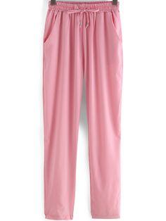 Pantalón elástico suelto-(Sheinside)