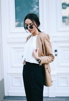 rounded sunglasses with edgy outfit