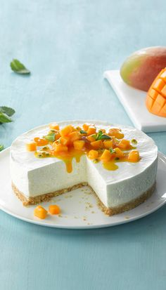 Philadelphia Cheesecake Recipe - Exotisk cheesecake med mango och kokos