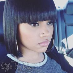 Grade Peruvian Virgin Hair Short Full Lace Bob Wigs With Bang Straight Natural Black Color Hair Virgin Human Hair Lace Wigs – EUR € My Hairstyle, Black Girls Hairstyles, Hairstyles With Bangs, Straight Hairstyles, Chinese Bob Hairstyles, Weave Bob Hairstyles, Short Bob Wigs, Short Hair Cuts, Short Hair Styles