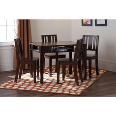 """Solutions by Kids R Us Storage Table and 4 Chairs - Espresso - Solutions by Kids 'R' Us - Toys """"R"""" Us"""