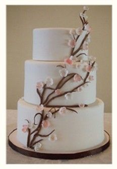 spring wedding cake pictures