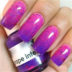 Grape Intentions--Color Changing Thermal Nail Polish:  Custom-Blended Indie Glitter Nail Polish / Lacquer by PolishMeSilly on Etsy https://www.etsy.com/listing/164592694/grape-intentions-color-changing-thermal