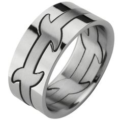 3-Piece Tribal Puzzle Ring