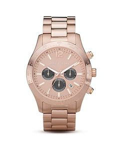 michael kors rose-gold watch