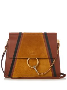 Click here to buy Chloé Faye medium suede and leather shoulder bag at MATCHESFASHION.COM