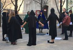 Witches casting spell against the President and those that elected him. We have to continue to pray for God to turn this country around. #DontDabbleInWitchcraft
