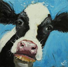 Drunken Cows - Whimsical Fine Art by Roz