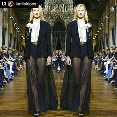 💜 It was an honor to close the show, what a stunning collection. Karlie Kloss, Goth, Runway, Collection, Beautiful, Paris Fashion, September, Gothic, Cat Walk