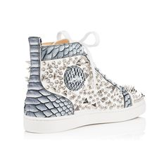 ༻⚜༺ ❤️ ༻⚜༺ Christian Louboutin | Louis Pik Pik Calf/Python Frozen High Top Sneakers ༻⚜༺ ❤️ ༻⚜༺