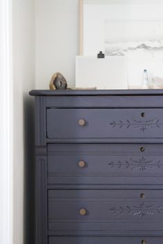 dresser drawers in a tiny apartment. – Reading My Tea Leaves – Slow, simple, sustainable living. Grey Bedroom Furniture, Bedroom Furniture Makeover, Cottage Furniture, Furniture Deals, Furniture Market, Furniture Movers, Gray Bedroom, Colorful Dresser, Colorful Furniture
