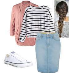 Modest Fashion by apostolicgirl85 on Polyvore featuring Anna Field, Paige Denim and Converse