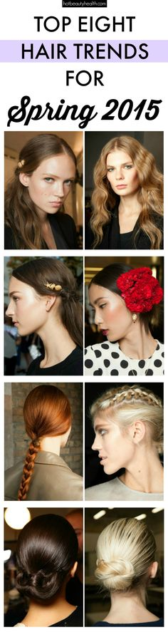 Spring hair: We spotted the best hair looks from the spring 2015 runways. From boho waves to slick long ponytails, you'll find the much needed hair inspiration as spring approaches.