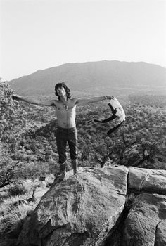 The Rolling Stones' Keith Richards in the Joshua Tree National Park in 1969.