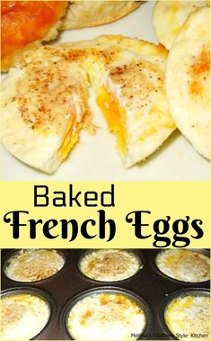These Baked French Eggs are made in minutes using a muffin tin making it possible for the entire family to enjoy breakfast at the same time. What's For Breakfast, Low Carb Breakfast, Breakfast Dishes, Breakfast Casserole, Egg Dishes For Brunch, Fast Breakfast Ideas, Breakfast Cereal, Vegetarian Breakfast, Vegetarian Food