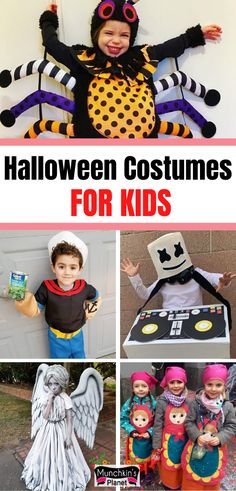 Want to make your kids stand out from the crowd? Check out these clever DIY Halloween costumes for kids, they are homemade, super easy and best matching with the family halloween costume for girls, boys or toddlers. A very creative and unique collections of last minute ideas to make your kids look cute and creepy. #halloweencostumes #diy #halloween #kids #familycostumes Best Toddler Costumes, Unique Toddler Halloween Costumes, Diy Halloween Costumes For Kids, Women Halloween, Halloween Makeup, Halloween Decorations, Halloween Couples, Group Halloween, Homemade Halloween