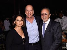 Gloria, Emilio and Bruce Willis