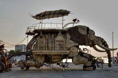 elephant burning man festival
