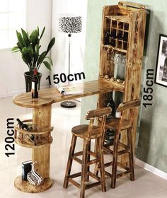 20 Trendy Home Bar Stand Diy Home Bar, Modern Home Bar, Home Bar Decor, Home Decor Furniture, Bars For Home, Rustic Bar Cabinet, Home Bar Designs, Wood Wine Racks, Wooden Bar