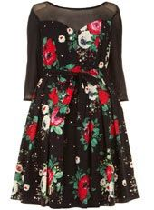 Curvy fashion:Scarlett & Jo collection dress. The Curved Opinion blog.  #plussize #floral