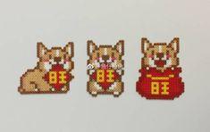 微博 Hama Beads Patterns, Loom Patterns, Stitch Patterns, Bracelet Patterns, Diy Perler Beads, Perler Bead Art, Pixel Art Grid, Iron Beads, Beaded Cross Stitch
