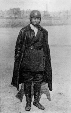 Bessie Coleman  In 1922 Bessie Coleman became the first licensed black pilot in the United States. My shero.