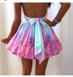 skirt pastel pink blue bow dress tye dye high waisted skirt purple mint galaxy cute fashion ootd style galaxy dress short dress colourful, cut out, open back, rainbow neeeed p!nk blue dress multicolor need this dress, pink and blue