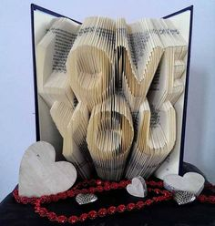 Our Favorite Things: Custom Wedding Guest Book Folded Book Art