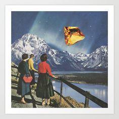 Surrealist Vintage Collages by Karen Lynch – Fubiz Media Collages, Surreal Collage, Surreal Art, Collage Art, Wall Prints, Fine Art Prints, Tumblr Shop, Sky Art, Art Memes