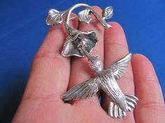 SALE Sterling silver Taxco Mexico hummingbird by BonniesGreatFinds, $125.00