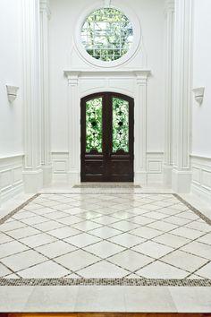 Artistic Tile | Crema Marfil & Akros foyer