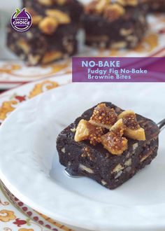 No-bake this brownie bites recipe from scratch for chill and slice decadence. Chocolate lovers devour fudgy no-bake little bites brownies with dried figs. #nobakebrownies #valleyfig #driedfigrecipes