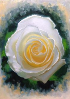 Awaking to the world Original oil painting of a white rose,by Vincent Keeling  25x35cm Oil on canvas  Price Unframed €450 Framed €550  This painting still needs to dry before varnishing, so will likely be the end of October 2016 by the time it is ready to ship. Viewing also available by appointment in Dublin city centre near Grafton St. Any questions, just let me know. vincentkeeling@gmail.com