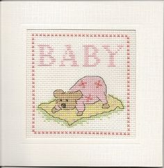 Finished Completed Cross Stitch Keepsake New Baby by xstitchnmomma, $15.00