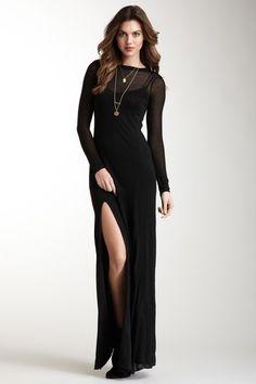 Gracie Sheer Jersey Dress » Ooh la la!
