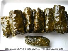 "how is this romanian it looks like its greek! Home Cooking In Montana: Romanian food - Romanian Stuffed Grape Leaves. ""Sarmalute in Foi de Vita"" Montana, Hungarian Recipes, Romanian Recipes, Stuffed Grape Leaves, V Video, Bar A Vin, Food Technology, Romanian Food, Different Recipes"