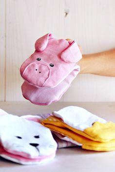 Pig pot holders!