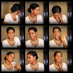 """Low Sock Bun On My """"Natural Hair"""" - Hairstyle For Every Occassion"""