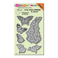 Stampendous - LILAC Cling Rubber Stamps - Hallmark Scrapbook - 10