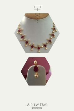 1 Gram Gold Jewellery, 18k Gold Jewelry, Gold Jewellery Design, Bead Jewellery, Latest Jewellery, Beaded Jewelry, Gold Necklace Simple, Simple Jewelry, Delicate Necklaces