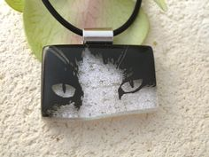 Cat Necklace  Dichroic Glass Necklace  Dichroic Glass by ccvalenzo, $30.00