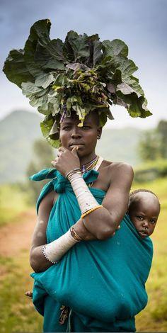 Woman Karo, Omo Valley, Ethiopia