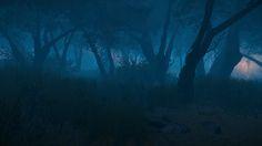 Der geheimnisvolle blaue Wald in Aporia.