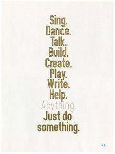 Affiche Just Do Something shop.la-seinographe.fr