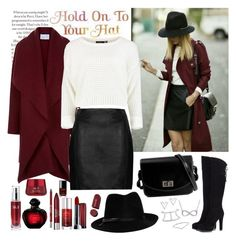 """""""Hold on to Your Hat"""" by whims-and-craze ❤ liked on Polyvore featuring Harris Wharf London, Topshop, Fratelli Karida, STELLA McCARTNEY, Alexander Wang, Nadri, Rebecca Minkoff, Maybelline, Christian Dior and Urban Decay"""