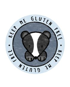 Woodland Badger – Keep Me Gluten Free Stickers – Free Stickers, Food Packaging, Badger, Woodland, Gluten Free, Glutenfree, Sin Gluten, Grain Free