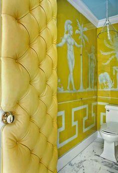 Puertas tapizadas o forradas · Upholstered doors Home Design, Interior Design, Design Hotel, Interior Doors, Decoracion Vintage Chic, Verre Design, Blue Ceilings, Eclectic Bathroom, Atlanta Homes