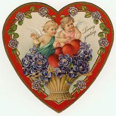 Valentine Cupid, Valentine Images, Vintage Valentine Cards, Vintage Greeting Cards, Valentines For Kids, Valentine Day Crafts, Valentine Decorations, Vintage Holiday, Vintage Tags