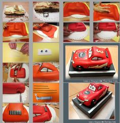 Today I'm going to show you some shots of the the Cars cake for the usual double birthday in our family. This is the cake for Marco and, in the next days, you'll find the Barbie cake for Giorgia. Due to little time we had, there are only few. Bolo Barbie, Barbie Cake, Fondant Cakes, Cupcake Cakes, Lightning Mcqueen Cake, Lightening Mcqueen, Queen Cakes, Decoration Patisserie, Cupcakes Decorados