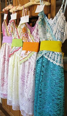 Vintage hankie dress Prairie Flower bridesmaid by LilyWhitepad, $165.00